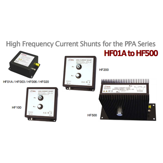 High Frequency Current Shunts for the PPA Series