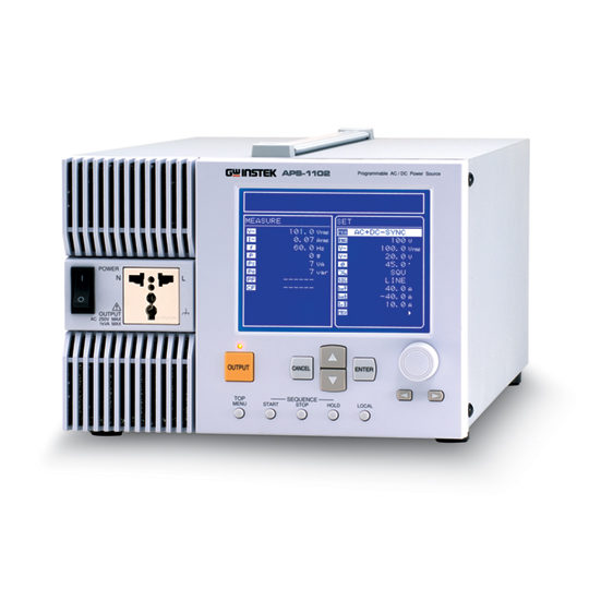 APS-1102A: Programmable AC/DC Power Source - GW Instek