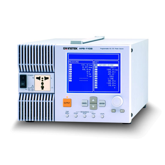 APS-1102A: Programmable AC/DC Power Source - GW Instek