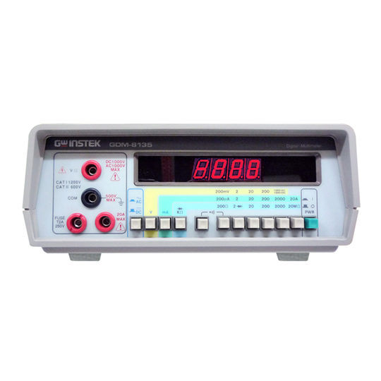 gw instek gdm-8135 digital multimeter