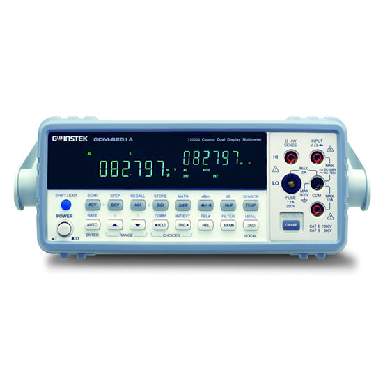 GDM-8255A series 5 1/2 digit dual-display digital multimeter front