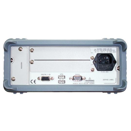 GDM-8255A series 5 1/2 digit dual-display digital multimeter back
