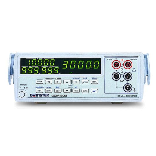 D.C. Milli-Ohm Meter. GOM-802 - 2