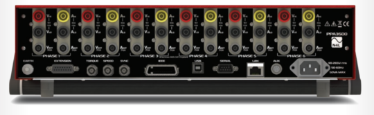 PPA3500 Series: 1 to 6 phases power analysis in a single rack-mount chassis - N4L back