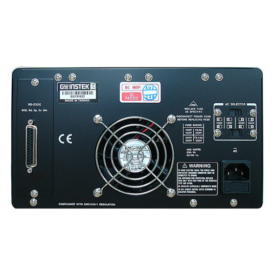 GW Instek PPE-3323 Programmable Linear DC Power Supply back