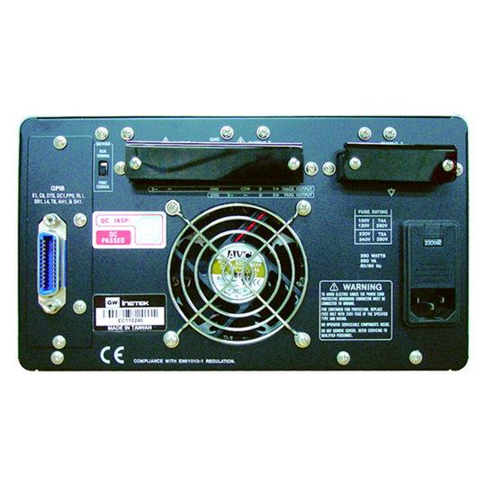 PPT Series 3-channel, programmable linear DC power supplies GW Instek back