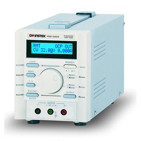 PSS-Series Power Supplies - single output, programmable linear DC power supplies front