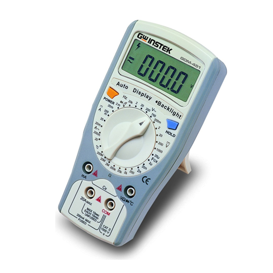 GDM-400 & GDM-300 - GW Instek Digital MultiMeter