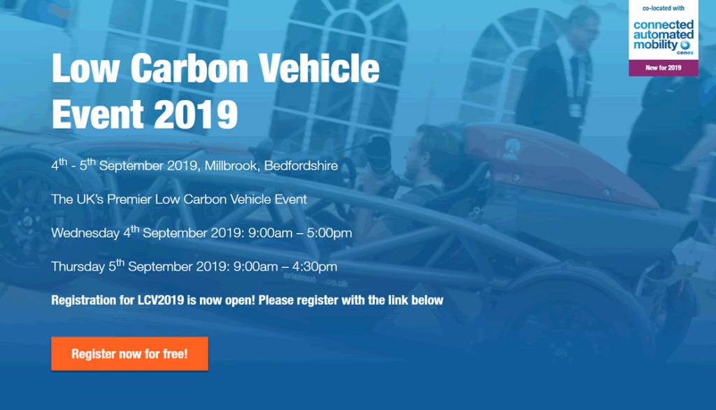 Low Carbon Vehicle Event 2019